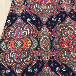 Agnes & Dora Vintage Maxi skirt size small mosaic